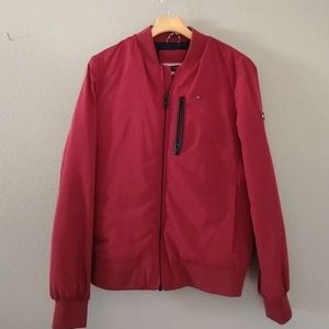 TOMMY HILFIGER quilted bomber jacket coat pockets